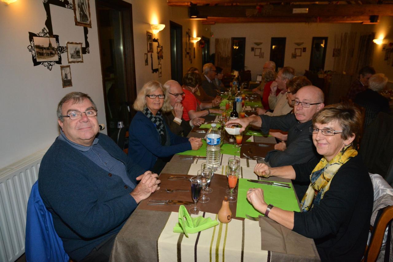 Le repas au Moulin de la Roome