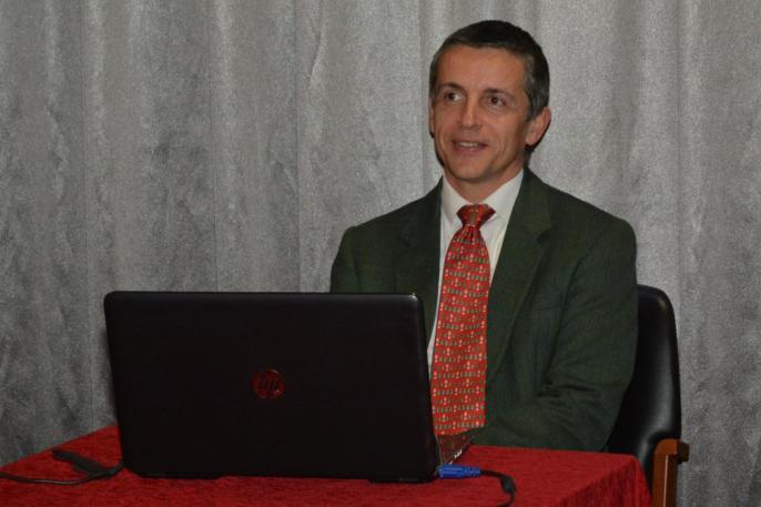 Le conférencier Grégory Vraman
